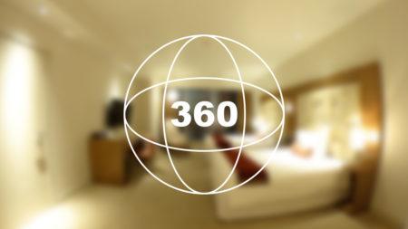 360°カメラで見る!マカオのホテル「シティ オブ ドリームズ – ザ カウントダウン」のお部屋