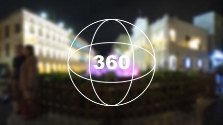 360°カメラで見る!マカオの世界遺産「夜のセナド広場(議事亭前地/Senado Square)」