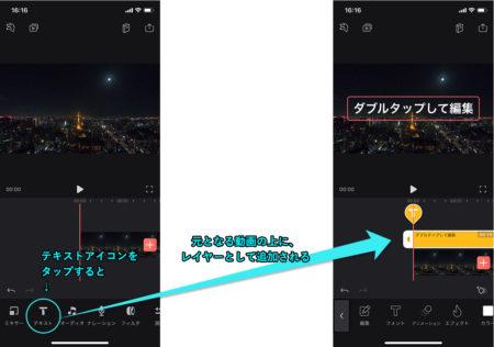 Videoleapのレイヤーの考え方と、重ね順の変更方法。