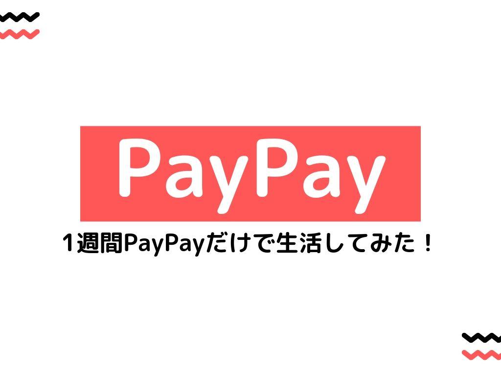 PayPayで生活ができるか1週間試してみたら快適でお金も戻ってきた。