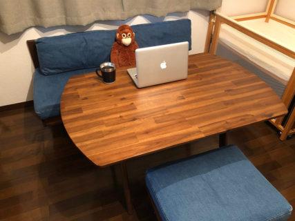 unicoのSWELLA(スウェラ)シリーズの雰囲気が大好き!テーブルとソファを買いました。