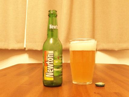 青リンゴのビール「Newton」は休日午後の癒しの1杯。