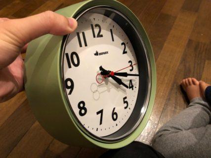 ポテっとした厚みが可愛い!DULTON(ダルトン)の掛け時計を買ったよ。